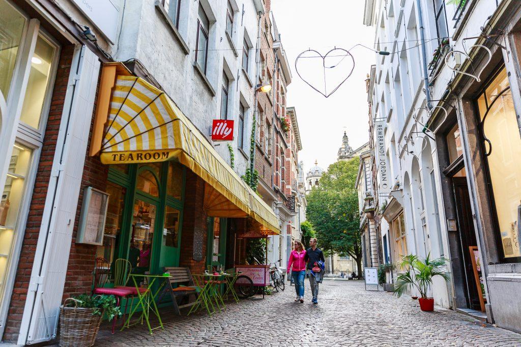 De Wijngaardstraat in centrum Antwerpen.