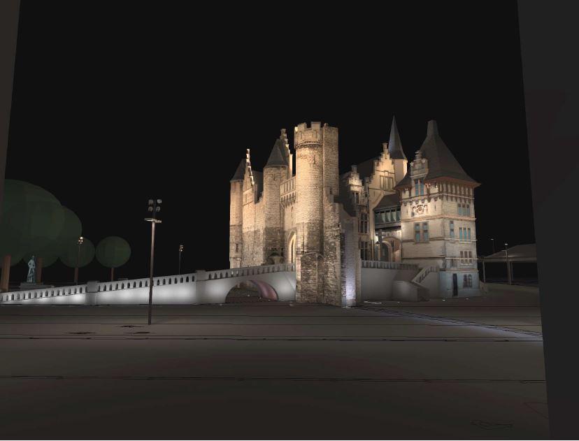 Het Steen zal straks na de heraanleg van het Steenplein en het nieuwe lichtplan prominenter dan ooit in het straatbeeld te herkennen zijn.